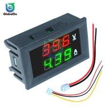 Мини цифровой вольтметр Амперметр DC100V 10A Панель Amp Вольт Напряжение измеритель тока тестер синий и красный цвета двойной светодиодный Дисплей тестер напряжения