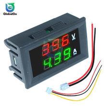 0.56 ''0-100V 10A 50A 100A LED voltmetro digitale amperometro auto moto tensione corrente misuratore Volt rivelatore Tester pannello Monitor