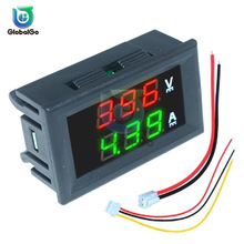 Mini Digital Voltmeter Ammeter DC100V 10A Panel Amp Volt Voltage Current Meter Tester Blue Red Dual LED Display Voltmeter Tool цена и фото