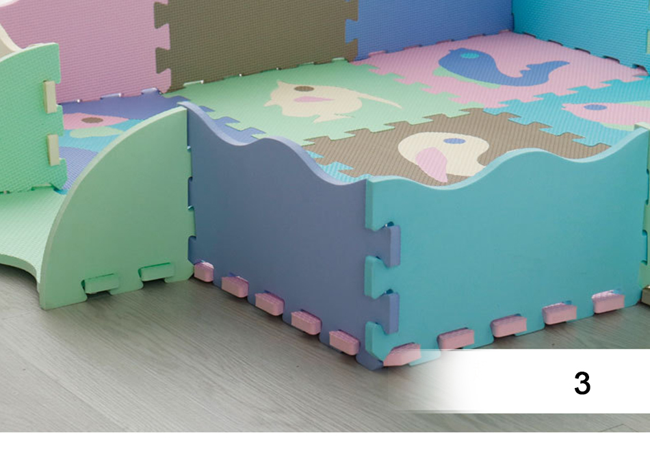 Ha13316ad33aa416f8cb049b7bb8cb49ez 25Pcs Kids Toys EVA Children's mat Foam Carpets Soft Floor Mat Puzzle Baby Play Mat Floor Developing Crawling Rugs With Fence