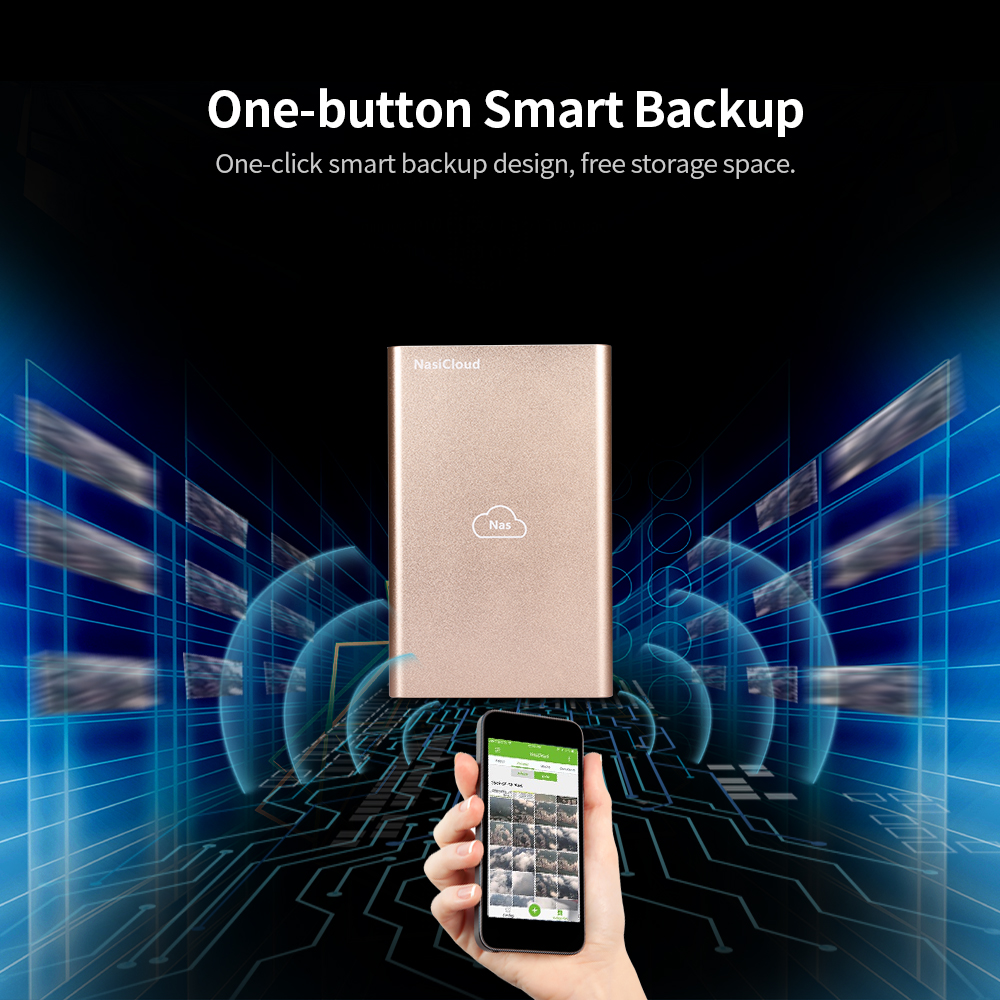 NAS Drive Enclosure Remote Access 2.5inch HDD/SSD NasCloud H2 Fast Speed USB3.0 Port Nas Server Attached Storage Nas Hdd Backup