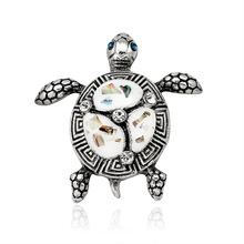 Retro simple animal series brooch quick sale supply colorful shellfish Joker prone turtle corsage factory outlet