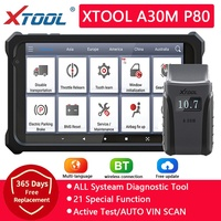 XTOOL-herramientas de diagnóstico de coche, lector de códigos para coche, sistemas completos, diagnóstico de marca múltiple con Android/IOS, actualización gratuita, A30 OBD2