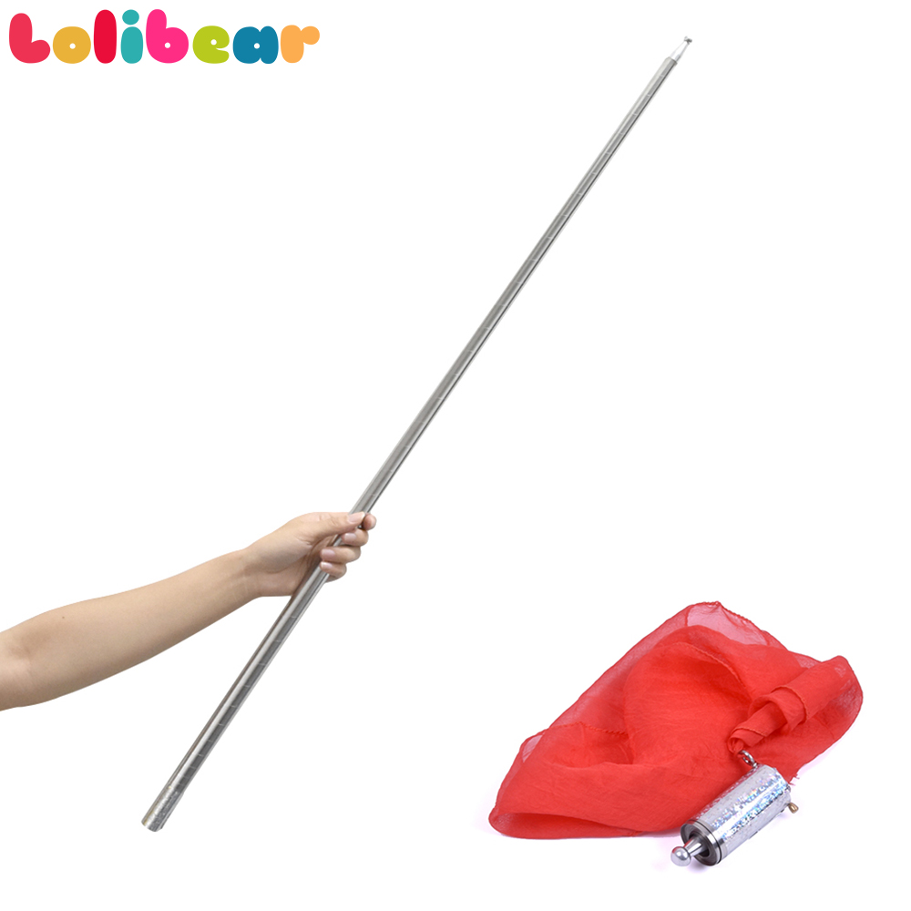 APPEARING CANE METAL SILVER MAGIC TRICKS WAND CLOSE UP STAGE SHOWS PROP GIMMICK
