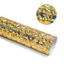 Голограмма теплопередачи виниловая Алмазная Золотая пленка htv