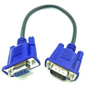 Image 1 - 30cm 50cm VGA kablosu erkek kadın örgülü koruyucu yüksek Premium HDTV VGA bilgisayar tv ekran sinyal kısa M /F uzatma kablosu