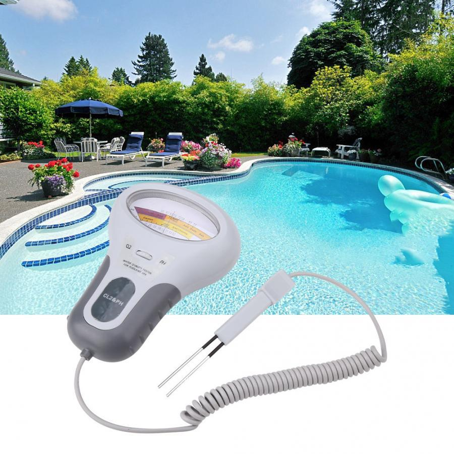 Portable Digital 2 In 1 Water Quality PH And Chlorine Level CL2 Tester Meter For Swimming Pool Spa Drinking Water Quality Analys