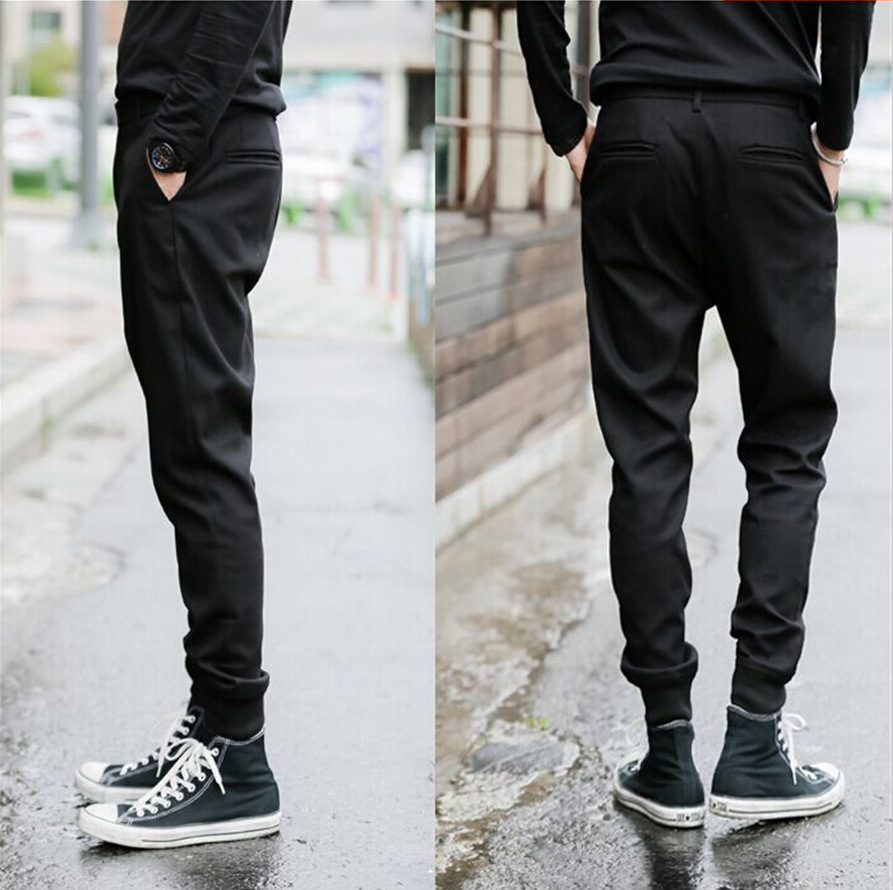 New Style Men's Korean-style Skinny Pants Boot Pants Alternative Slim Fit Fashion Casual Tapered Pants