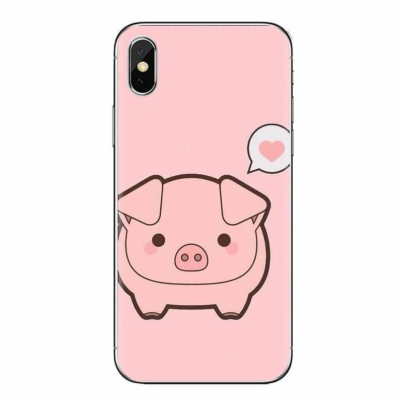 Мягкий прозрачный просвечивающийся чехол для LG G3 G4 мини G5 G6 G7 Q6 Q7 Q8 Q9 V10 V20 V30 X Мощность 2 3 K10 K4 K8 2017 смешной милый мягкий чехол с изображением милой свинки