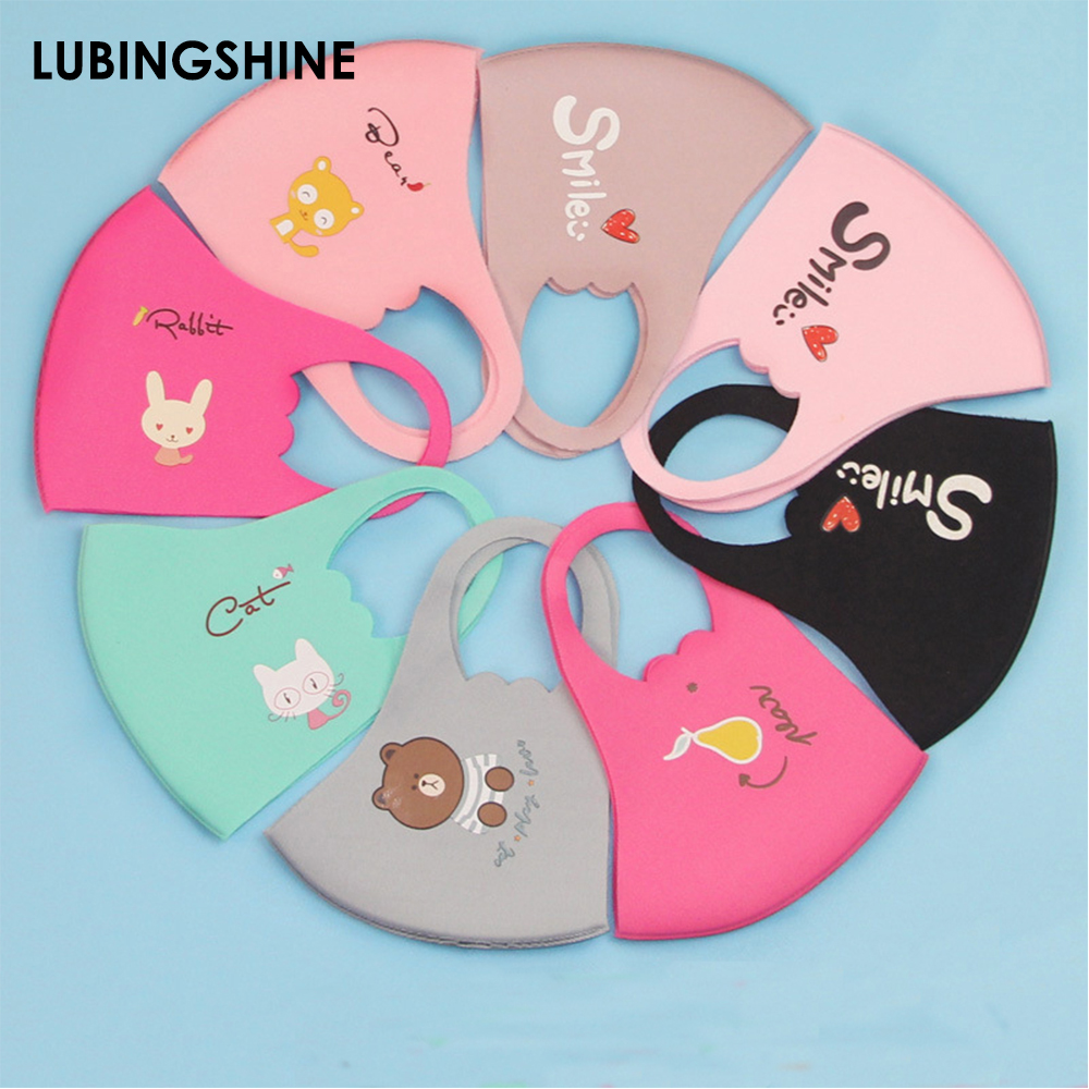 3Pcs PM2.5 Children Mouth Mask Cartoon Anti-Fog Anti-Dust Protective Breathable Face Mask