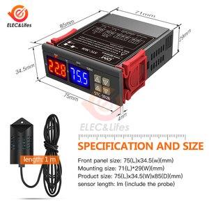 Image 2 - הדיגיטלי טרמוסטט Hygrostat טמפרטורת לחות בקר AC 110V 220V DC 12V 24V רגולטור חימום קירור בקרת STC 3028
