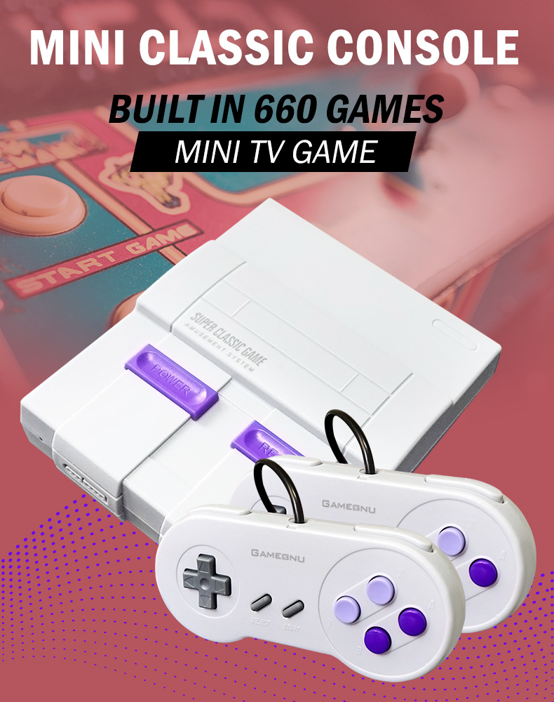 Built-in 660 GAMES Retro Super Classic Game Mini TV 8 Bit Family TV Video Game Console Game Handheld Gaming Player Birthday Gift