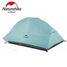 Naturehike 2 человек Сверхлегкий Профессиональный палаточный лагерь 20D силиконовый ветрозащитный Открытый походный альпинистский тент бесплатный коврик