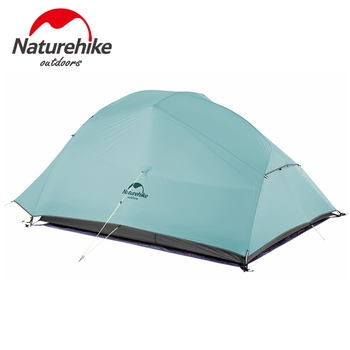 Naturehike New 2 Person Ultralight Professional Camping Tent 20D Silicone Windproof Outdoor Hiking Backpacking Tent Free Mat 2