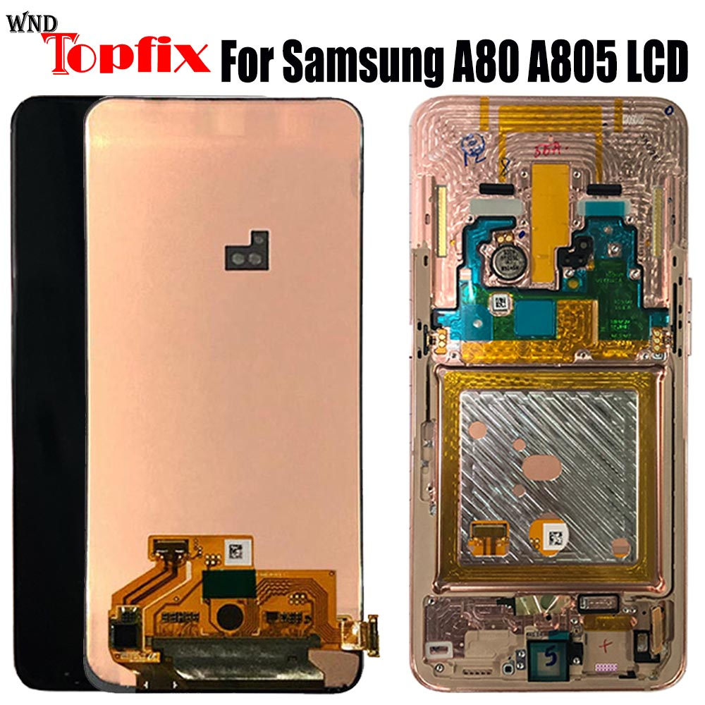 For <font><b>SAMSUNG</b></font> <font><b>GALAXY</b></font> <font><b>A80</b></font> A90 A805 A805F/DS <font><b>LCD</b></font> Display Touch Screen Digitizer Assembly With Frame Replacement For <font><b>SAMSUNG</b></font> <font><b>A80</b></font> <font><b>LCD</b></font> image