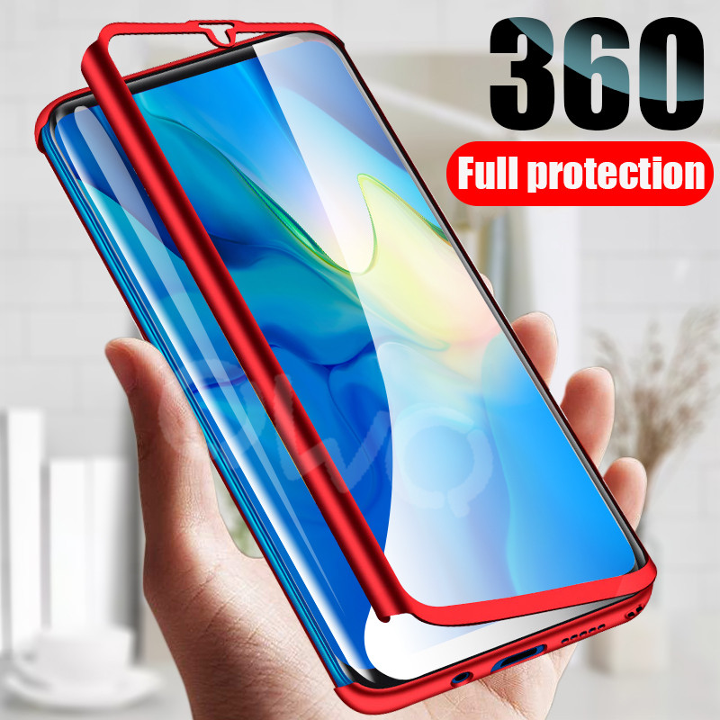 360 degree matte phone case For Xiaomi Redmi note 7 5 6 4 k20 pro 6a 4x 5A full protective for Redmi 5 plus 4a s2 PC back cover floor