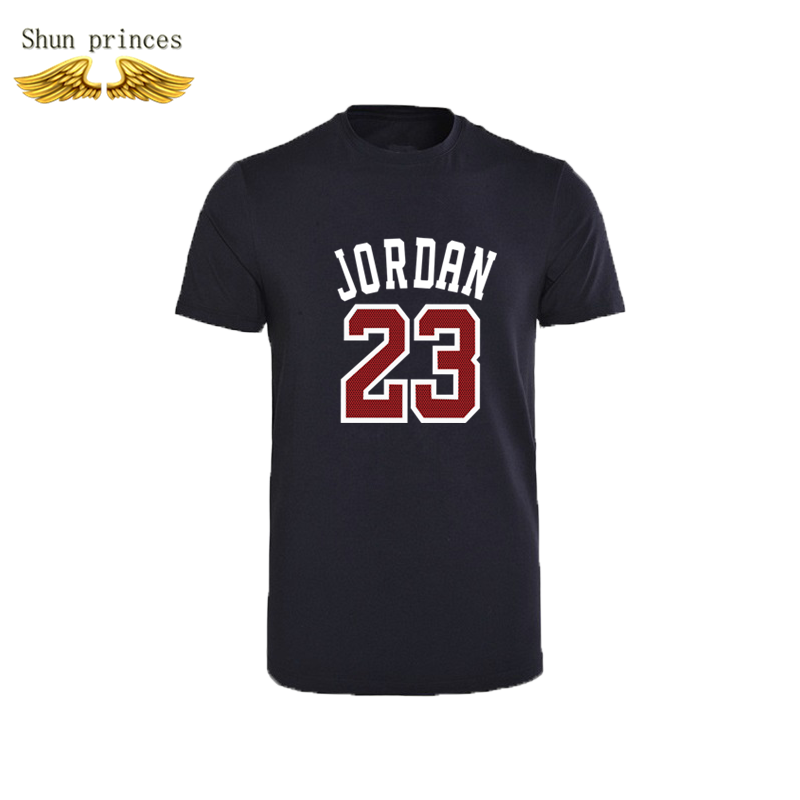 Jordan 23 Fashion Men's T-shirt Round Collar Made Of Pure Cotton Printing Design Casual Tshirt Man Sports T-shirt Short Sleeves