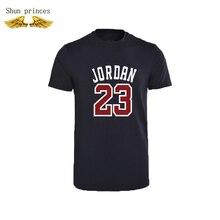 Jordan 23 fashion Men's T-shirt round collar made of pure cotton Printing design casual tsh