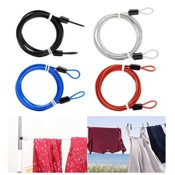 Cable de bloqueo de código de bicicleta de 2 metros, cuerda de alambre antirrobo para ropa de coche, cuerda de alambre para ropa de exterior, candado de combinación de 1,5 metros para bicicleta