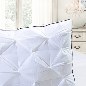 Image 4 - Down Feather Pillow Super soft White Duck/Goose Neck pillow Standard Antibacterial Elegant Home Textile Cotton Bedding Pillow