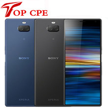 Sony – Smartphone Xperia 10 I3113, téléphone portable, 4G, LTE, Android, 6.0 pouces, Octa core, 3 go de RAM, 64 go de ROM, caméras 13mp et 5mp, empreintes digitales