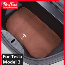 Flannel Upholstered Front Trunk Mat For Tesla Model 3 Storage box dirt proof pad protection Car modified interior accessories for lada largus 2012 2018 trunk mat floor rugs non slip polyurethane dirt protection interior trunk car styling