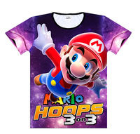Super Mario Game Related Products T shirt Short Sleeve Mario Summer Men And Women Clothing Couples Clothes Half Sleeve A31