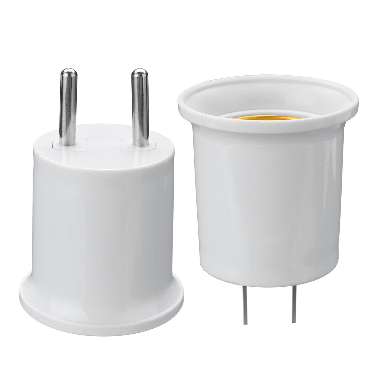 E27 Lamp Base To EU/US Plug Socket Lamp Holder Converter Adapter For LED CFL Light Bulb Lamp 110-220V