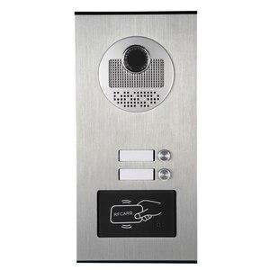 """Image 4 - 7 """"LCD מסך וידאו בית אינטרקום דלת טלפון מערכת 2 לבן צגים RFID גישה דלת מצלמה עבור 2 / 3 ביתי דירה"""