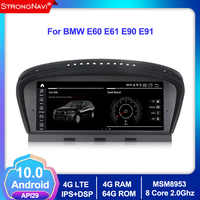 8 core Android 10.0 Car dvd player GPS navigation for BMW 5 Series E60 E61 E63 E64 E90 E91 E92 E93 4G RAM 64G ROM car multimedia