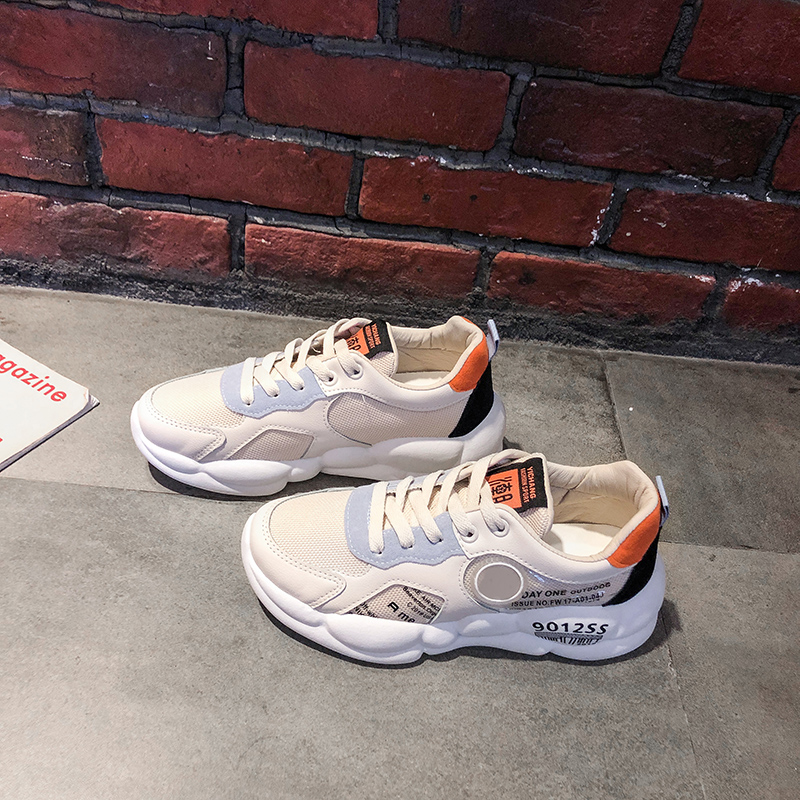 YeddaMavis Shoes White Daddy Shoes Women Shoes Women Sneakers New Korean Lace Up Womens Shoes Woman Trainers Zapatos De Mujer in Women 39 s Vulcanize Shoes from Shoes