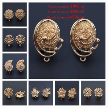 1 Pair African Women Tassel Earrings Connector Linkers Charms for Ethiopian Hanging Dangle Earrings Wedding Jewelry set Designs pair of stunning rose wedding earrings jewelry for women