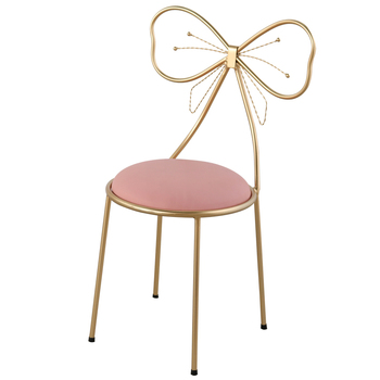 Bedroom ins Makeup Stool Modern Minimalist Back Chair Bow Dressing Stool Girl Heart Princess Makeup Chair