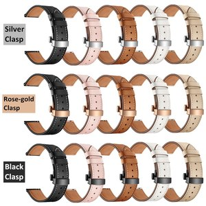 Image 1 - 20MM Replaceable Band for Garmin Vivoactive 3/Vivomove HR Bracelet Leather Strap for Samsung Galaxy Watch 3 41mm/42mm/Active 2 1