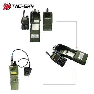 Image 5 - TAC SKY AN / PRC 152 152a Военная рация модель радио военный Харрис виртуальный чехол + Военная гарнитура ptt 6 pin PELTOR PTT