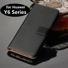 Кожаный чехол-книжка премиум класса, роскошный чехол-бумажник для Huawei Y6 II Y6 Pro 2017 Y6 Prime 2018 2019, держатель для карт, чехол для телефона GG