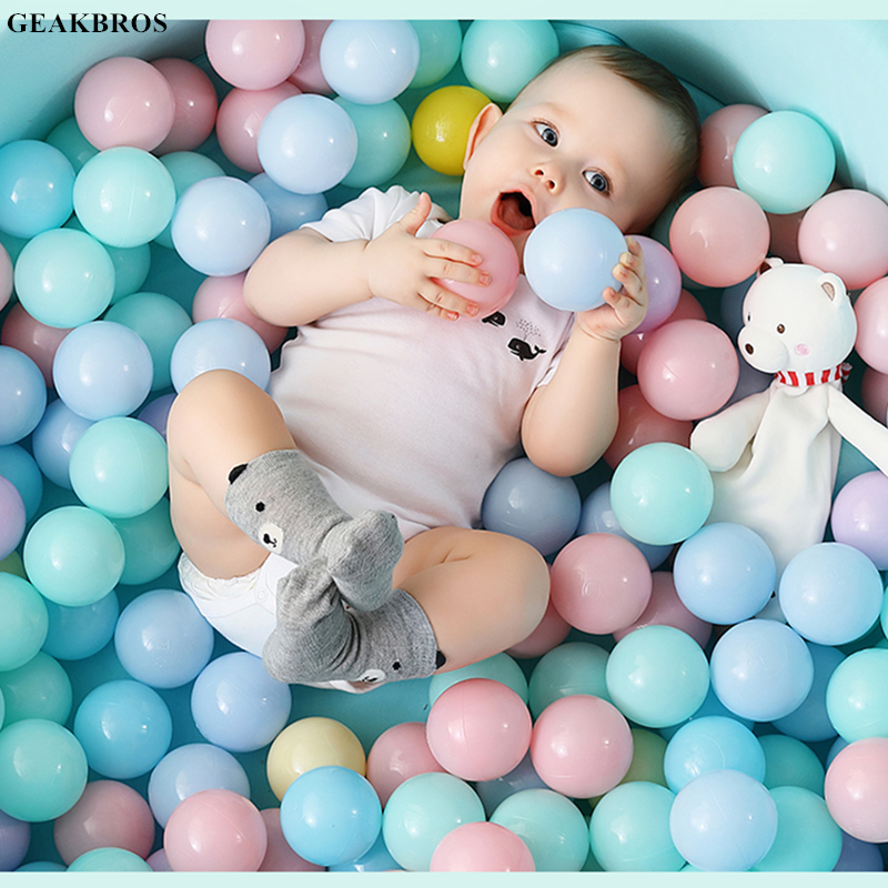 100pcs/set Ocean Balls Eco-Friendly Colorful Ball Pits Soft Plastic Transparent Water Ocean Wave Ball Toys For Children Kid Baby