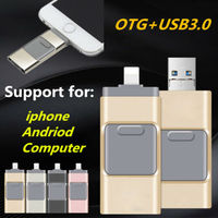 5 iphone 5s Otg USB Flash Drive 3 in1 For iPhone 11 X 8 7 6 5 5S ipad Usb Key Pendrive 3.0 HD Memory Stick 16GB 32GB 64GB 128GB 256GB (2)
