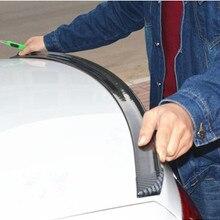 1.5M Car-Styling 5D Carbon Fiber Spoilers Styling DIY Refit Spoiler Universal For BMW Toyota Honda KIA Hyundai Opel Mazda