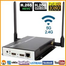 MPEG4 H.264 HDMI Video Audio per RTMP RTSP HTTP M3U8 Streaming Encoder 1080P 1080I H.265 HD Video per IP flusso Encoder IPTV WIFI