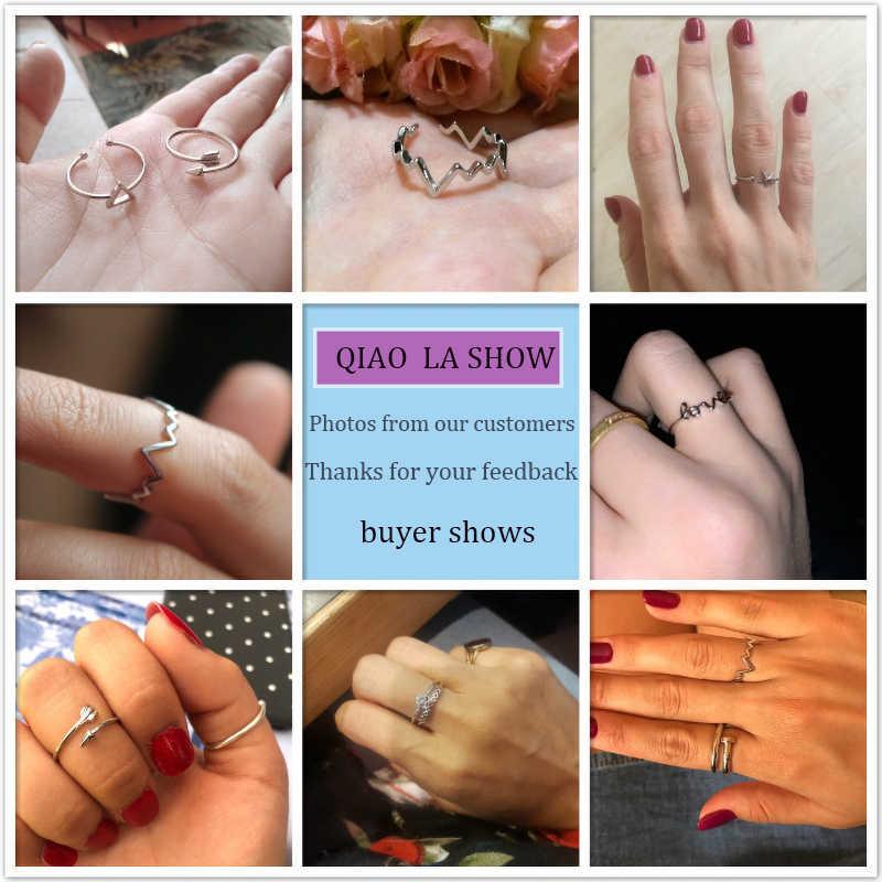 Vintage géométrique unisexe personnalisé réglable en acier inoxydable anneaux pour les femmes couleur argent à la mode fête ouverte anneaux bijoux