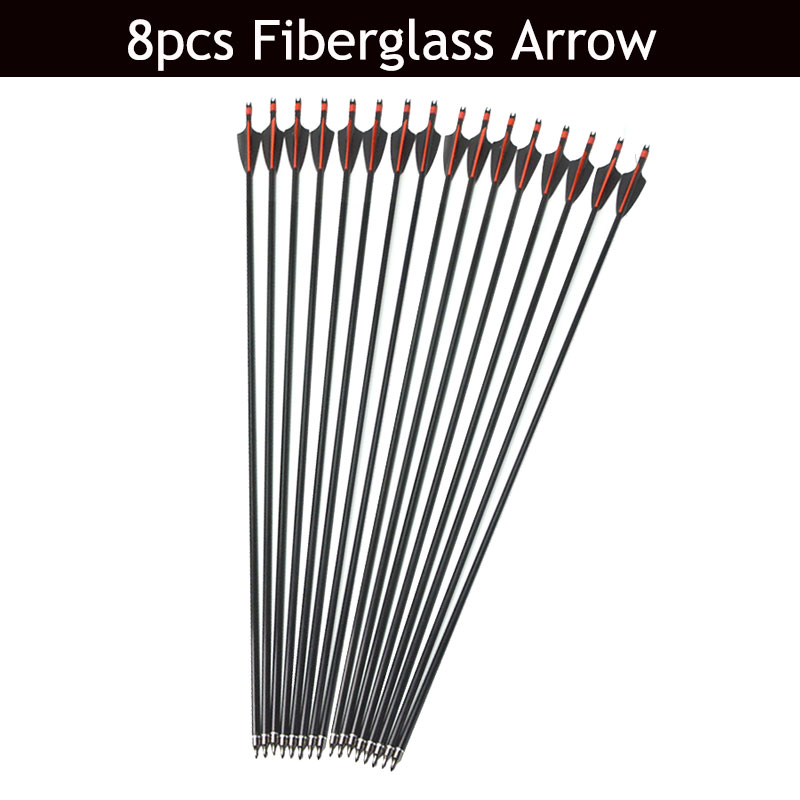 Image 3 - 30/40lbs Archery Recurve Bow And Arrow Set 8pcs Fiberglass Arrow Spine 500 With Arrow Quiver RH/LH Shooting Hunting Accessories-in Darts from Sports & Entertainment