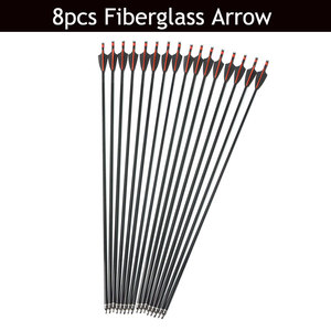 Image 3 - 30/40lbs Archery Recurve Bow And Arrow Set 8pcs Fiberglass Arrow Spine 500 With Arrow Quiver RH/LH Shooting Hunting Accessories