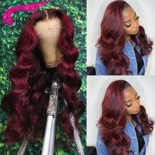 1B99J Цветной 13x6 Синтетические волосы на кружеве парик человеческих волос парики бразильские парики из натуральных волос на кружевной основе...