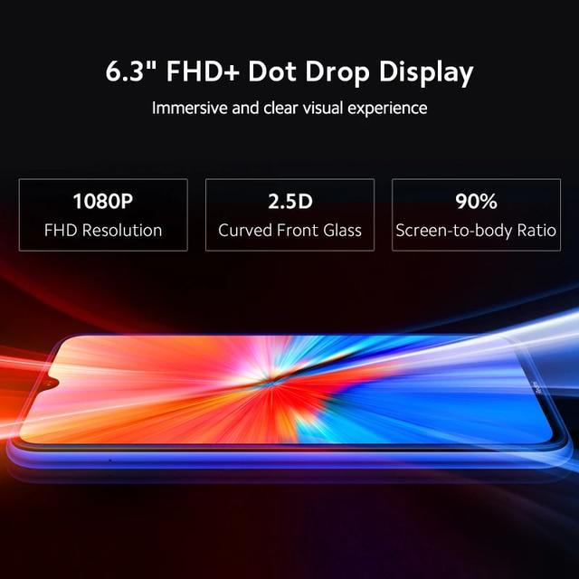 New Global Version Xiaomi Redmi Note 8 (2021) Mobile 4GB 64GB Helio G85 Octa Core 48MP Quad Camera 4000mAh Battery Smart Phone 5