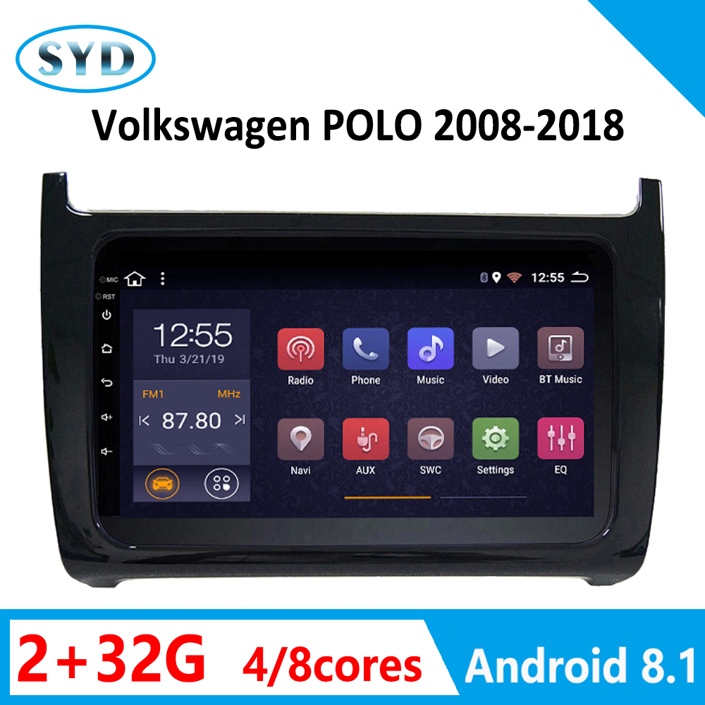 car radio <font><b>DVD</b></font> player for Volkswagen POLO <font><b>android</b></font> coche stereo 2008-2010-2018 GPS vehicle head unit stereo <font><b>1din</b></font> <font><b>autoradio</b></font> carplay image