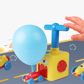 цена на Power Balloon Car Air Power Press Inflate Balloon Driven Car Children Science And Technology Teaching Tools