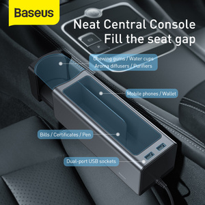Image 5 - Baseus Car Organizer Auto Seat Crevice Gaps Storage Box Cup Phone Holder for Pockets Stowing Tidying Organizer Car Accessories