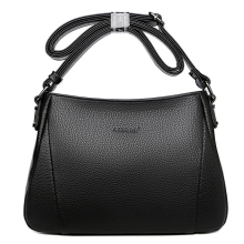 Women Genuine Leather Shoulder Bag Fashion New Black Messenger Waterproof Multi-pocket Crossbody-bag For