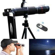 4k hd 3 seção ajustável 16x 35x zoom telefoto lente da câmera do telefone óptico para smartphones lente telescópio monocular